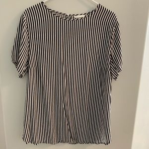 H&M Black and white striped top